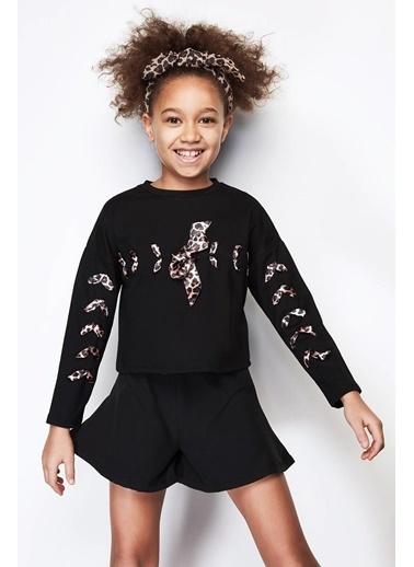 Tyess Kız Çocuk Siyah Şort Siyah
